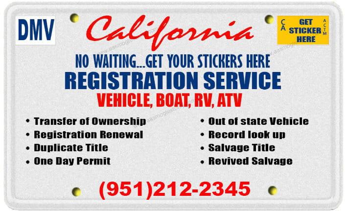 Auto Registration | DMV Registration Near Me | (951) 212-2345